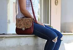 Korková kabelka plus kvetinový snappap