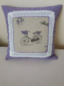 Úžitkový textil - Vankúš s bicyklom - 10725938_