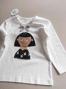 Detské oblečenie - Francúzka - tričko pre dievčatko - 10724559_