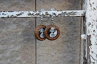 Náušnice - Naušky živicové stromčeky jing - jang - 10726007_