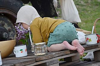 Detské oblečenie - Kraťasky pre bábätko bavlna 1 - 6/9 m - 10726285_