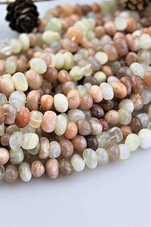 Minerály - mesačný kameň korálky 8-12mm cena za 10ks! - 10725250_