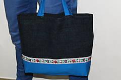 Nákupné tašky - taška folk s pevnými ušami - 10726046_