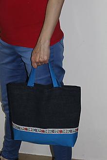 Nákupné tašky - taška folk s pevnými ušami - 10726044_