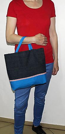 Nákupné tašky - taška folk s pevnými ušami - 10726094_