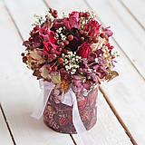 Kvetinová krabička zo sušených kvietkov ... ♥ mojej obľúbenej ...
