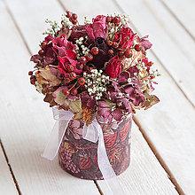 Dekorácie - Kvetinová krabička zo sušených kvietkov ... ♥ mojej obľúbenej ... - 10724408_