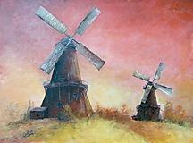 Obrazy - Veterné mlyny - 10725286_