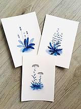 - Trio originál akvarelov Poľné rastlinky - 10724058_
