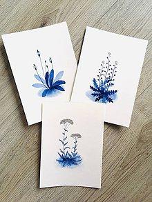 Obrazy - Trio originál akvarelov Poľné rastlinky - 10724058_