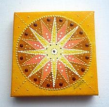 Magnetky - Mandala - Hviezda - magnetka - 10724692_