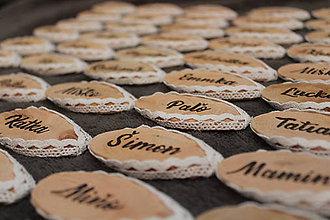 Kľúčenky - Ručne vypaľované drevené menovky - 10725810_