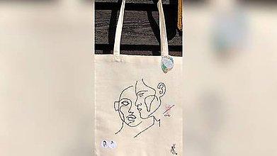 Iné tašky - ♥ Plátená, ručne ručne vyšívaná taška ♥ (XY3) - 10725471_