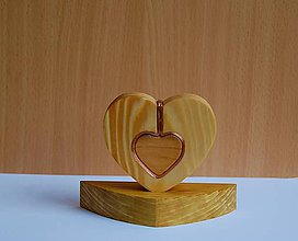 Dekorácie - Drevená dekorácia - Malé srdiečko - 10725709_