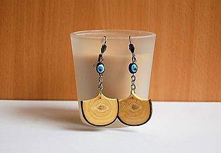 Náušnice - Drevené náušnice - Jaseňové vejáriky - 10725976_