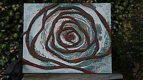 Obrazy - Hrdzavá ruža 100x80cm - 10725886_