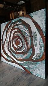 Obrazy - Hrdzavá ruža 100x80cm - 10725887_