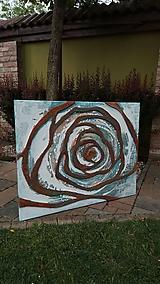 Obrazy - Hrdzavá ruža 100x80cm - 10725898_