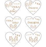 Darčeky pre svadobčanov - Svadobné NÁLEPKY kol. MODERN - 10726770_