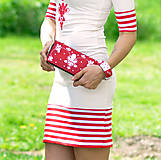 Šaty - Šaty Red Folk - skladom (S) - 10724353_