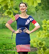Šaty - Šaty Blue Folk 2 - skladom S - 10724536_