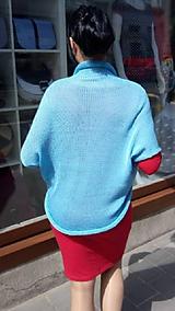 Svetre/Pulóvre - Pletená vesta, barva sv.modrá (SLEVA 50%) - 10727006_