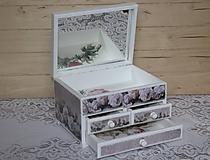 Krabičky - Šperkovnica ruža - 10725005_