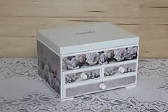 Krabičky - Šperkovnica ruža - 10725006_