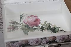 Krabičky - Šperkovnica ruža - 10725007_