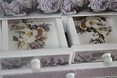 Krabičky - Šperkovnica ruža - 10725008_