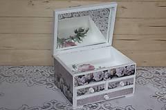Krabičky - Šperkovnica ruža - 10725010_