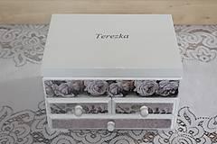 Krabičky - Šperkovnica ruža - 10725011_
