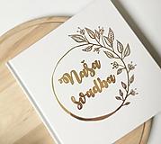 - Svadobná kniha hostí half Flower Wreath - 10725861_