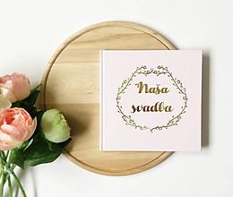 Papiernictvo - Svadobná kniha hostí Elipse Flower - 10726215_