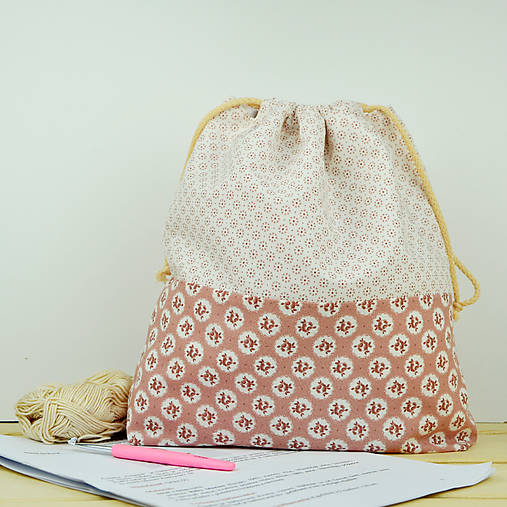 Nostalgická tvoritaška ~ projektová taška na vaše tvorenie