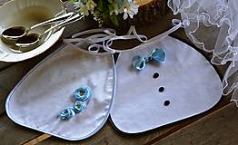 Iné doplnky - Svadobné podbradníky - modré kvety - 10723718_