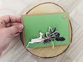 Papiernictvo - Pohľadnica s jeleňom pre poľovníka - 10724896_