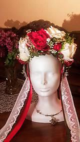 Ozdoby do vlasov - Svadobná parta pivonia - 10726614_