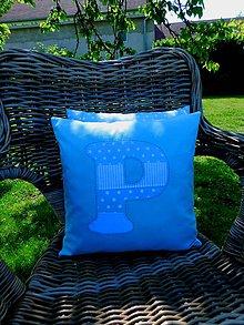 Úžitkový textil - PPP projekt:), obliečka na vankúš s písmenom - 10724722_