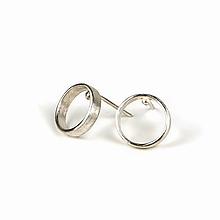Náušnice - Jemné stříbrné naušnice Blue - 10725519_