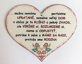 Drobnosti - Srdce - MÁME SA RADI, PRETOŽE SME RODINA - 10726786_