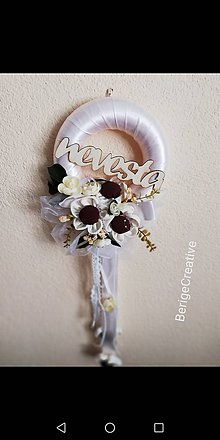 Dekorácie - Venček na dvere pre nevestu - 10725624_