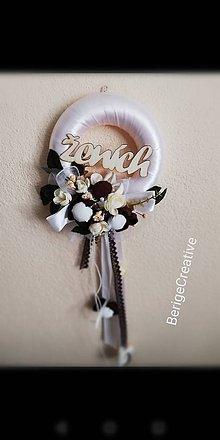 Dekorácie - Venček na dvere pre ženícha - 10725758_