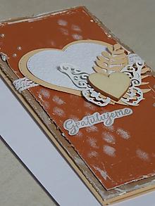 Papiernictvo - ...pohľadnica svadobná srdiečková... - 10723608_