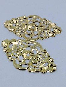 Komponenty - Kovové tvary filigrán, medzikusy (fili 1) - 10726015_