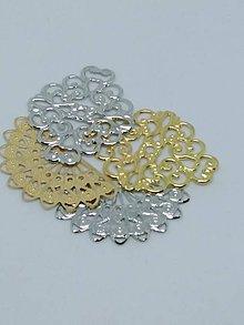 Komponenty - Kovové tvary filigrán, medzikusy - 10726029_