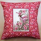 Textil - Povlak na vankúš - Kvetinová víla - 10726420_