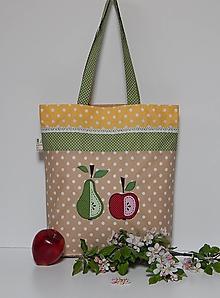 Nákupné tašky - Nákupná taška - jablko a hruška - 10725414_