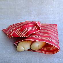 Úžitkový textil - FILKI voskáň - voskované vrecko (červeno-biele vrecko) - 10723932_