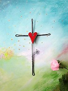 Dekorácie - jednoduchý krížik *19 - 10723676_